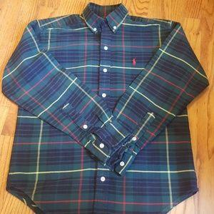 Ralph Lauren Cotton Button Down Plaid Shirt